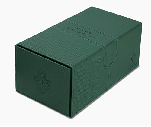 Card Guardian - Premium Double Deck Box for 200+ Cards Trading Card Games TCG (Green)