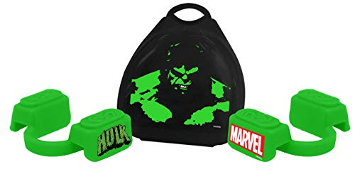 New Age Performance 5DS Sports and Fitness Mouthpiece - Lower Jaw - No-Contact - Includes Case - Marvel Hulk