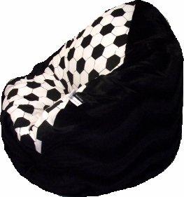 Altmark-Design Sitzsack XXL Fussball Nr.VII - Black incl. Inlett