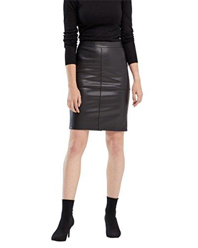VILA CLOTHES Damen Vipen New Skirt-fav Rock, Schwarz (Black), 42 (Herstellergröße: XL)