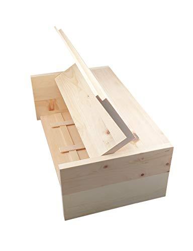 Davartis - Zirben Brotkasten/Brotkiste/Brotbox 100% natürlich - ca. 45 x 25 x 15 cm