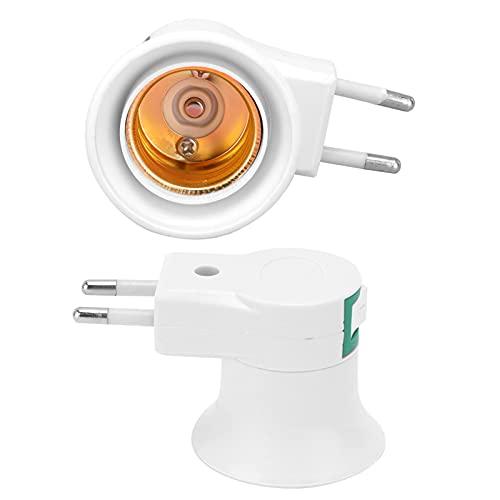 Soporte de lámpara, 2 Piezas de portalámparas con Interruptor para lámparas empotradas