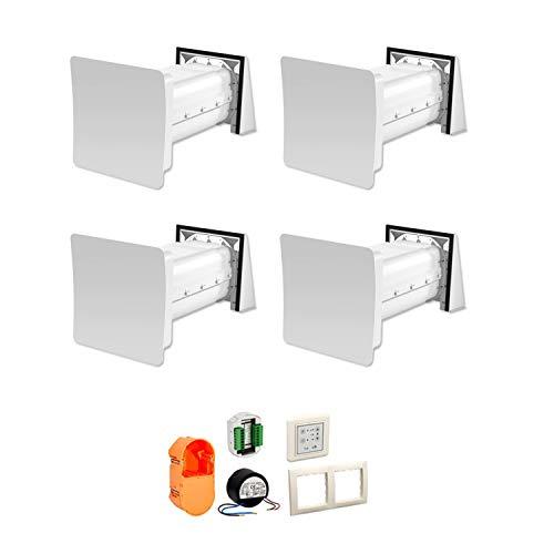 Stiebel Eltron 204216 - Ventilazione decentrata per abitazioni LWE 40-4 Comfort, set completo per ca. 80 m² con recupero del calore, scambiatore di calore in alluminio, pannello fonoassorbente