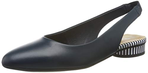 Tamaris Damen 1-1-29409-32 Slingback Ballerinas, Blau (Navy/Stripes 880), 38 EU