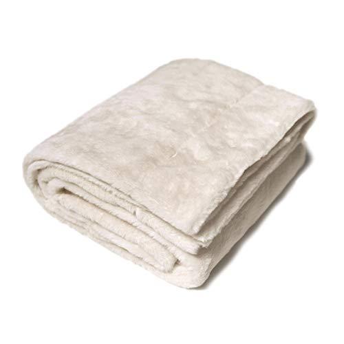 Nielsen Wohndecke Octavian, 150x200cm, Antique White, Ökotex, extra flauschig und weich, Wohndecke, Sofadecke, Kuscheldecke, Schlafdecke, dekorativ und elegant