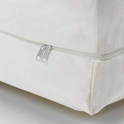 "Evolon Mattress Encasement   1 Micron Filtration, 12"" Queen Zippered Protector   No Chemicals, Vinyl, or PVCs"