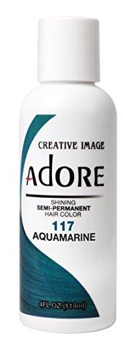 Adore Shining Semi-Permanent Hair Colour, 117 aquamarine, 4 Fl Oz
