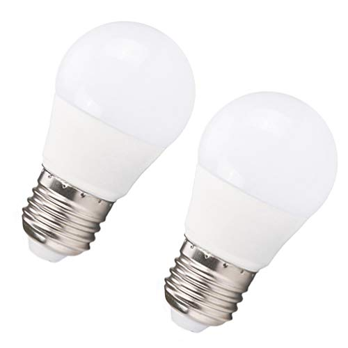 OSALADI - 2 bombillas E27 de 3 W, 220 V, 6000 K, color blanco