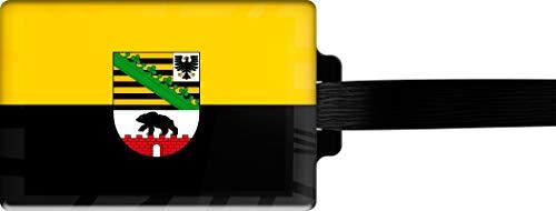 metALUm   Gepäckanhänger Adressanhänger Kofferanhänger verdecktes Adressfeld Flagge Sachsen- Anhalt stabiles Kofferschild 3001072