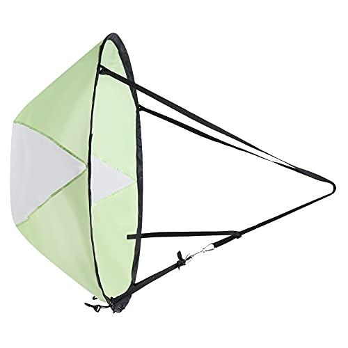 Velas de windsurf portátiles Plegables 42 pulgadas Barco de kayak Vela de viento Kit de vela de viento a favor del viento duradero Accesorios para tablas de remo Fácil instalación Velas de viento