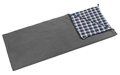 BERGER Deckenschlafsack Fleece Comfort grau Maße LxB: 210 x 80cm schlafen Outdoor Draußen Camping