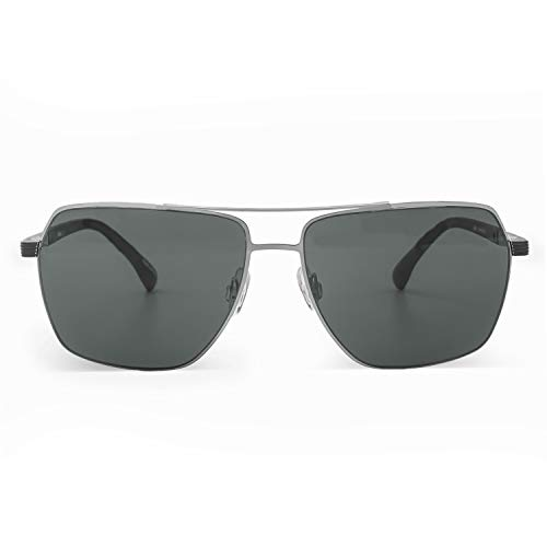 KobelFein. Gafas de sol de aviador para hombre, marco de metal, rectas,