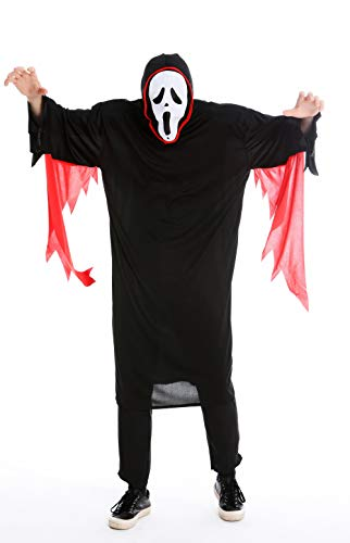 dressmeup Dress ME UP - M-0001 Kostüm Herren Damen Unisex Halloween Geist Gespenst Serienkiller Edvard Munch Scream Schrei Gr S/M