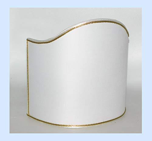 Paralume mezzo tondo ventola vela in tessuto - produzione propria - made in Italy (cm 10)