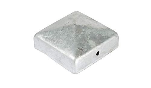 meingartenversand.de 10er Set Pfostenabdeckung/Zaunpfosten Kappen 7 x 7 cm eckig in Pyramiden Form aus Stahl, verzinkt günstig
