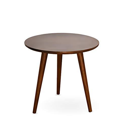 LICHUAN Mesa de café redonda de madera mesa de té comedor sala de estar moderno mesa de café muebles hogar sofá decoración pequeño espacio mesa auxiliar sala de estar