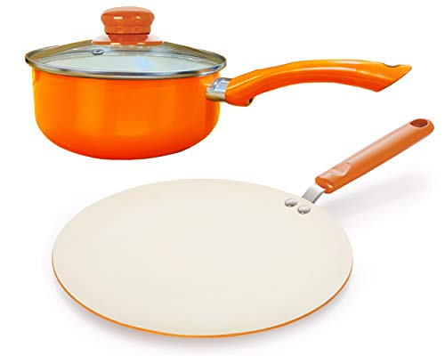 Nirlon Ceramic Induction Base Non Stick Aluminium Cookware Set
