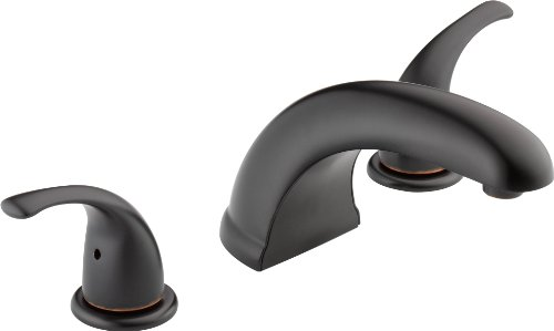Peerless Tunbridge 2-Handle Widespread Roman Tub Faucet Trim Kit, Oil-Rubbed Bronze PTT298510-OB (Valve Not Included)