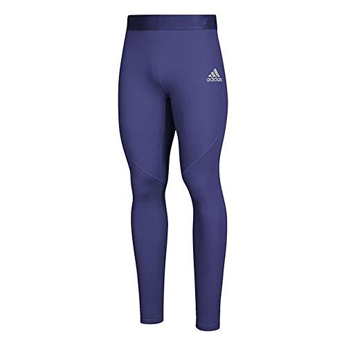 Adidas Alphaskin Sport - Mallas largas para Hombre, Alphaskin - Mallas Deportivas largas de Entrenamiento, Collegiate Purple, Pequeño Alto
