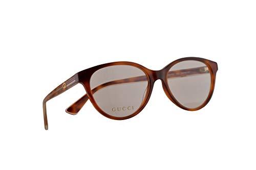 Gucci GG0379O Brillen 52-16-140 Havana Braun Mit Demonstrationsgläsern 004 GG 0379O