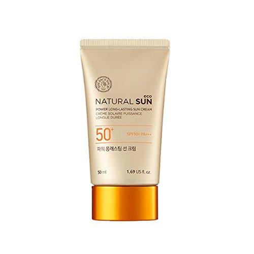 [The Face Shop]2015 UPGRADE Natural Sun Eco Power Long-Lasting Sun Cream 50ml(1.69oz)SPF50 PA+++ by The Face Shop
