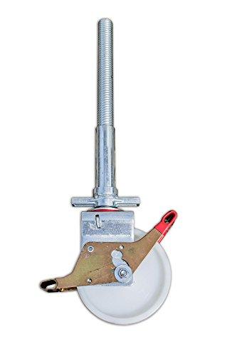 ALTEC 200mm Rolle mit Doppelbremshebel und Stahl-Spindel für Rollfix/AluKlik (4 Stück)