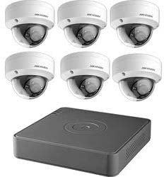 Hikvision T7108Q2TB 8-Channel 1080p DVR with 2TB HDD and 6 1080p Outdoor Dome Cameras Kit