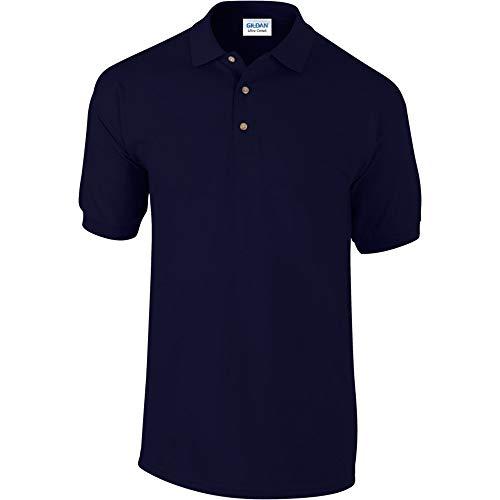 Gildan Mens Ultra Cotton Pique Polo Shirt (L) (Navy)