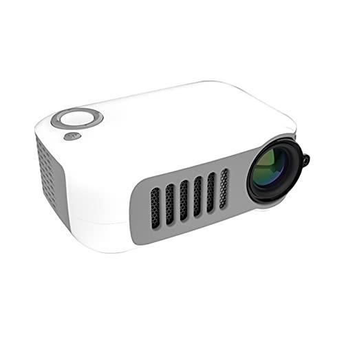 WWDKF Proyector, Mini Proyección para Niños En Casa De Alta Definición 1080P, Adecuado para Cine En Casa, con Interfaz HDMI USB TV AV Y Control Remoto, Mini Proyector Inteligente Portátil,C