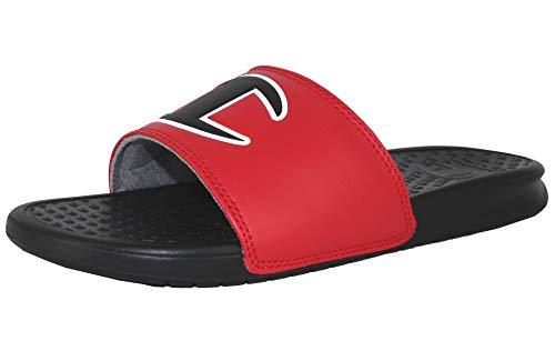 Champion Boy's Kid's Youth Ipo Big C Logo Slide Sandal - Red/Black