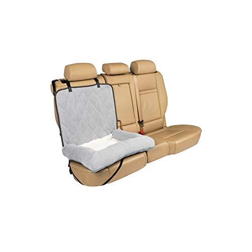 PetSafe Cama de Perro - Cubreasientos Trasero Happy Ride - Se Adapta a automóviles, Camiones, minivans y SUV - Protección a Prueba de Agua - Protector del Asiento de vehículo Duradero - Gris