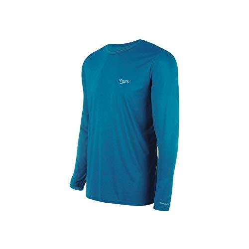 Speedo Camiseta Uv Protection M/L Masculina Homens G Azul