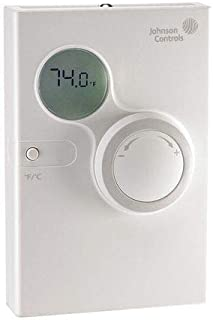 Temp Network Sensor, 120mm x 80mm Size, with Logo, with Display, Setpoint Dial, with Scale Toggle, Without Fan Control, with Switches, Without VAV Feature