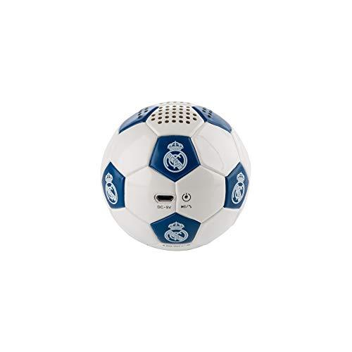 Oferta de Real Madrid Altavoz Bluetooth Inalámbrico con Forma de Balón con 3-4 horas de autonomía