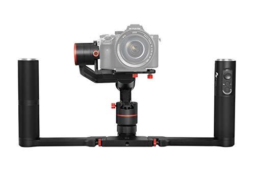 FeiyuTech a1000 - Kit stabilizzatore Dual Hand per Fotocamere Reflex (DSLR), Gimbal a 3 Assi, Fino a 1 kg, Colore: Nero
