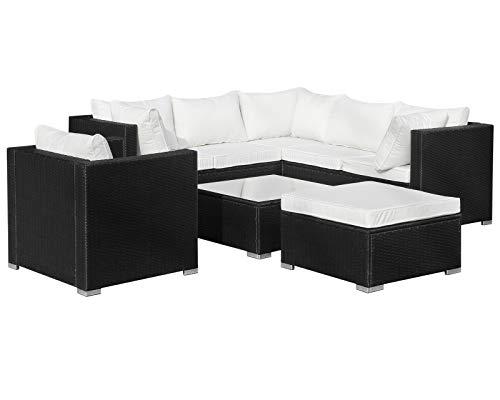 Hansson Sports, mobili da Giardino in polyrattan, Nero, 87x 87x 70cm, 1g102a