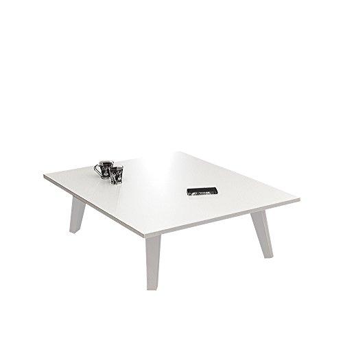 Table Basse Pieds INCLINES-Blanc, Autre, 89 x 67 x 28,2 cm