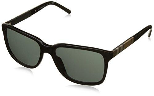 Burberry 0Be4181 300187 58 Gafas de sol, Negro (Black/Gray), Hombre