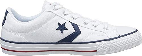 Converse Lifestyle Star Player Ox, Zapatillas Unisex Adulto, Blanco White White Navy 111, 44 EU