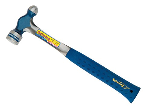 Estwing Ball Peen Hammer - 32 oz Metalworking Tool with Forged Steel Construction & Shock Reduction Grip - E3-32BP