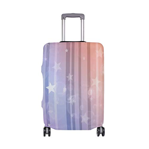 Travel Star Background (XL Fits 29-32 Inch Luggage) Baggage Washable Suitcase Protector Luggage Cover Anti-Scratch