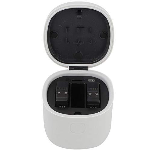 DAUERHAFT Cargador de batería Blanco 2.8 * 2.6 * 3.5 Pulgadas Cargador de batería Lector de Tarjetas, para Gopro Hero 5/6/7(Single Charger Limit Price $18.9)