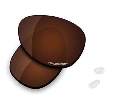 Saucer - Lentes de repuesto para gafas de sol Oakley Elmont M, (High Defense - Bronce Dorado Polarizado), Talla única