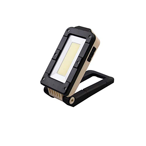 PopHMN Luz de Trabajo LED, lámpara de inspección COB, antorcha magnética USB Recargable Plegable para Taller de automóviles Taller de Senderismo (Grande)