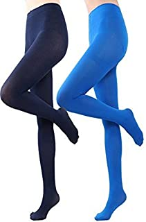 561a1cf5ec692 HeyUU Women's Semi Opaque Solid Color Soft Footed Pantyhose Tights 2 Pack
