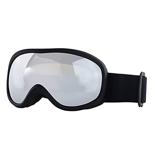 Morninganswer Gafas de esquí antivaho Anti-UV Hombres Mujeres Gafas de Snowboard Gafas Deportivas de esquí Balck Silver