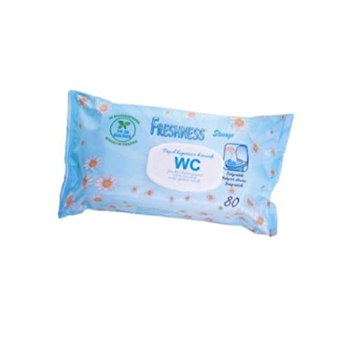FRESHNESS Toallitas WC Papel Higienico Humedo 80Uds 80 U. Pop-U, Plástico, Multicolor