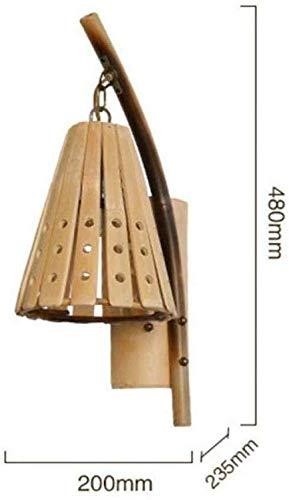 Mkjbd Wandlamp tuinlamp wandlamp wandlamp wandlamp wandlamp wandlamp wandlamp creatieve moderne wandlamp bamboe eenvoudige lampenkap