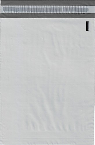 ValueMailers 7.5' x 10.5' Poly Mailers Envelopes Bags, White, 100 Pack