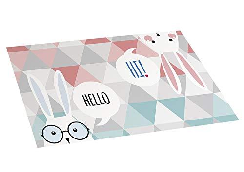 STOR PLANET Alfombra de Vinilo Infantil Hello, Estampado, 45 cm x 75 cm